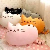 D948 Free shipping hot selling cute cookies big tail cats meow star people hold pillow doll Creative cat plush toys present