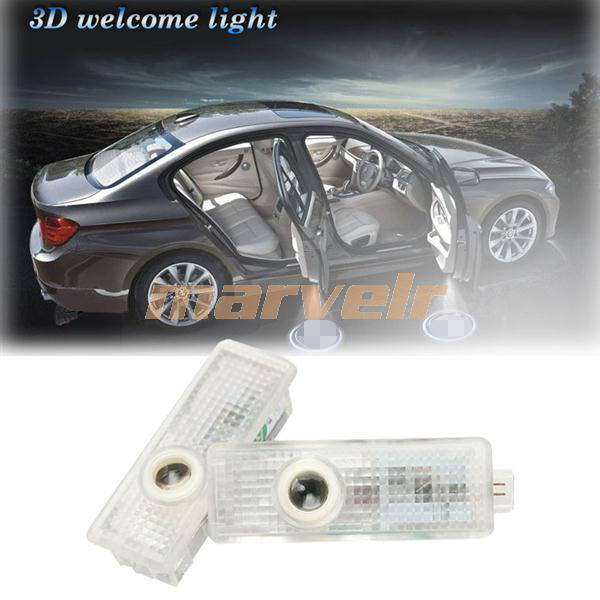 2X LED Car Door Welcome Light Laser Projector Logo Ghost Car Door Shadow Lighting For BMW 3/5/7 Series X3 X5 M3 M5(China (Mainland))