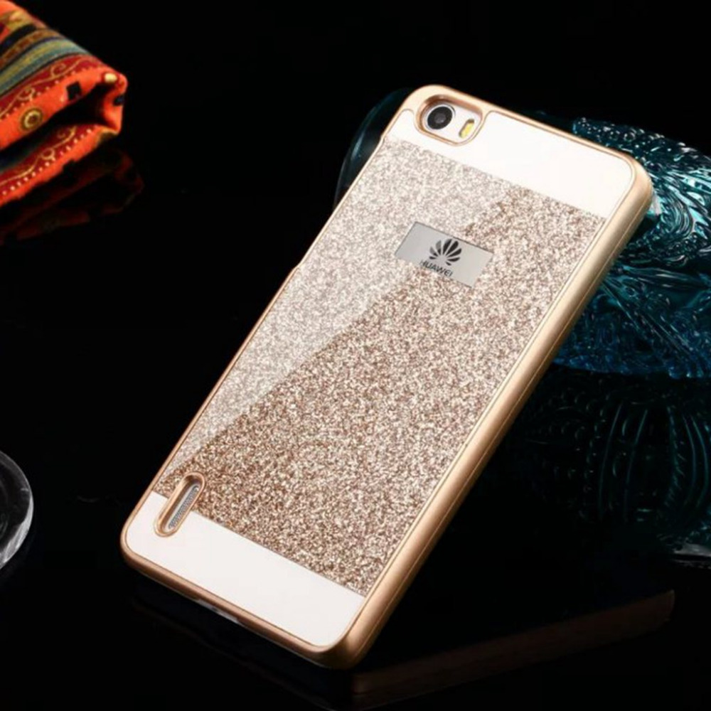 Pink Case For Huawei Ascend P8 Lite Mobile Phone Coque Luxury Bling Glitter Back Cover S Style P8lite Protector Cases bn305(China (Mainland))
