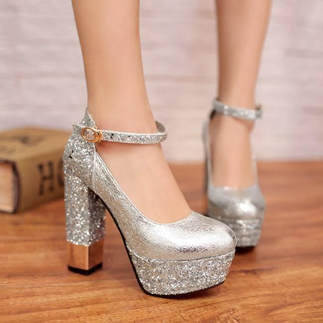 Thick Silver Heels | Tsaa Heel