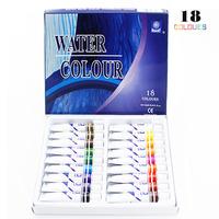 Watercolor Paints Water Color Painting Pigment Supplies 18tubes x12ml Colors/Set