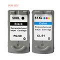 Ink Cartridges PG 50 CL 51 PG50 CL51 For Canon Pixma iP2200 iP6210D iP6220D MP150 MP160