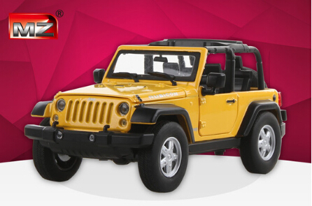 Hot sale MZ 1:24 Car Model JEEP Wrangler Alloy Children's toys Off-road vehicles Open car Military vehicle Collection baby toy(China (Mainland))