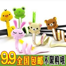 X183 animal slitless cartoon cable winder relaxed bear series management-ray device(China (Mainland))