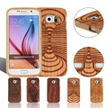 Real Nature Wood Case for Samsung Galaxy S S6 G9200 Wooden Natural Genuine Cases Mobile Cell