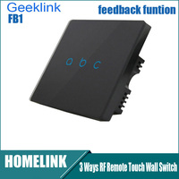 Original Geeklink Smart Touch Switch with Feedback Function For Smart Home Three Way