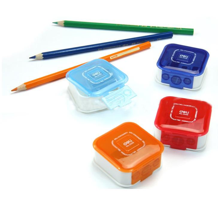 Free shipping deli 0556 volume pen device square shape pencil sharpener 3 square holes pencil sharpener<br><br>Aliexpress
