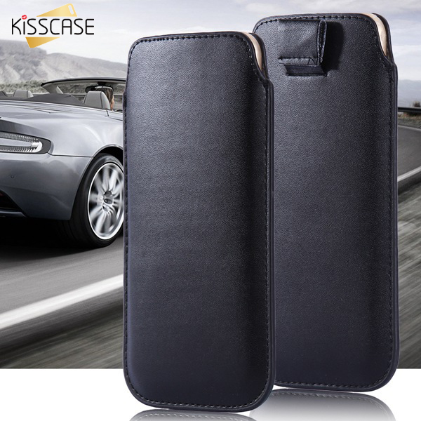 """KISSCASE Universal 4.7"""" Purse Leather Case For iPhone7 5 5S 4 4S i6 6s General Pull Sleeve Cover For Samsung S3 S4 mini(China (Mainland))"""