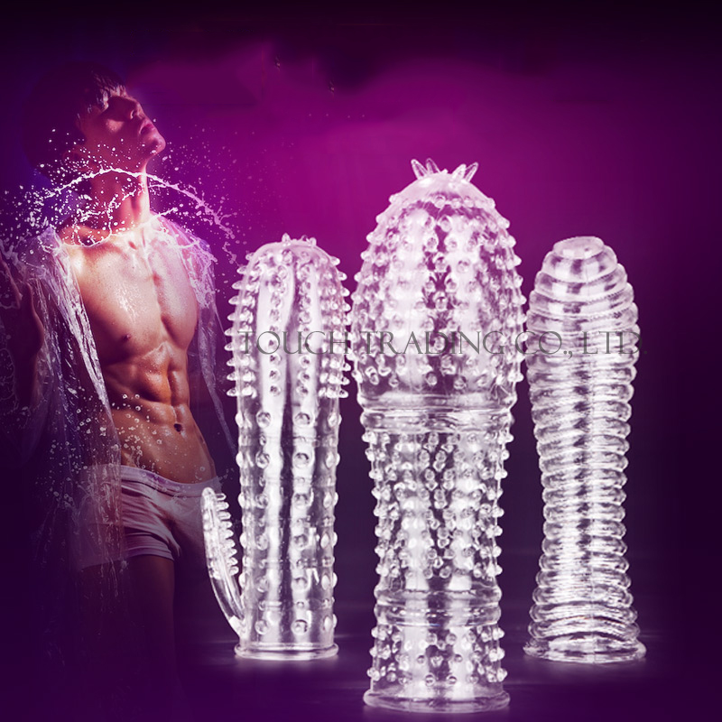 MizzZee medical silicone Crystal Clear condoms Adult sex products male penis lengthening sex toys for men Soft and comfortable(China (Mainland))