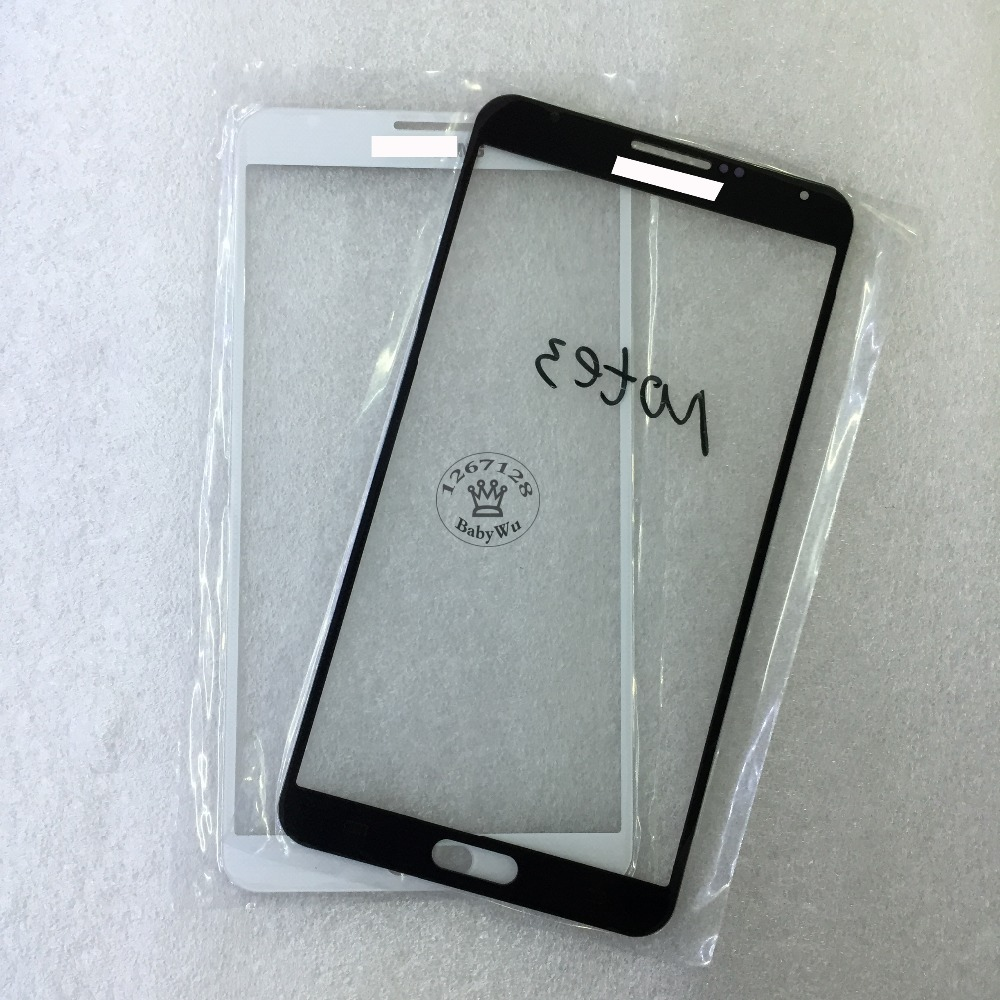 1PCS Black/White Touch Screen Glass Lens For Samsung Galaxy Note 3 Note3 Front Outer Glass Lens Replacement Parts(China (Mainland))