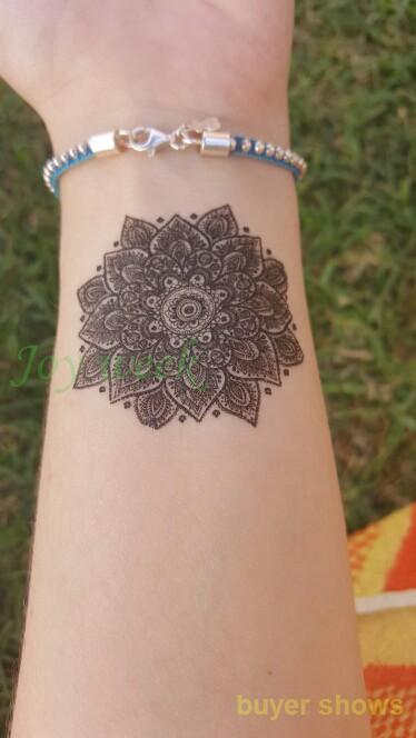 Waterproof Temporary Tattoo Sticker sexy lotus mandala totem tattoo Water Transfer fake tattoo flash tattoo for girl women