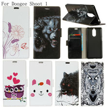 Buy BOGVED Colored Drawing Series Luxury high PU leather case Doogee Shoot 1 Shoot1 Bag Cover Shield Case for $5.85 in AliExpress store