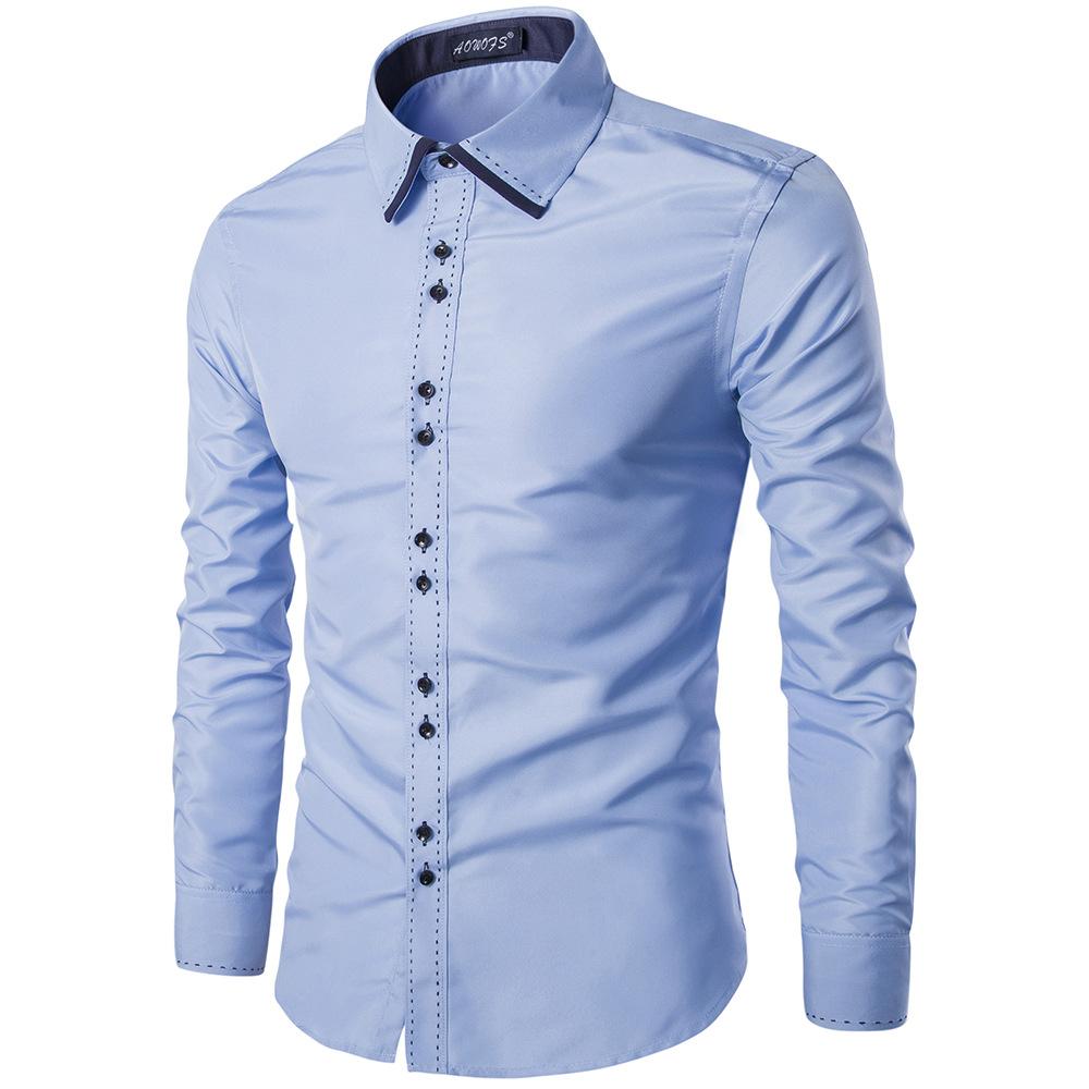 2016 New Design Twill Cotton Pure Color White Business