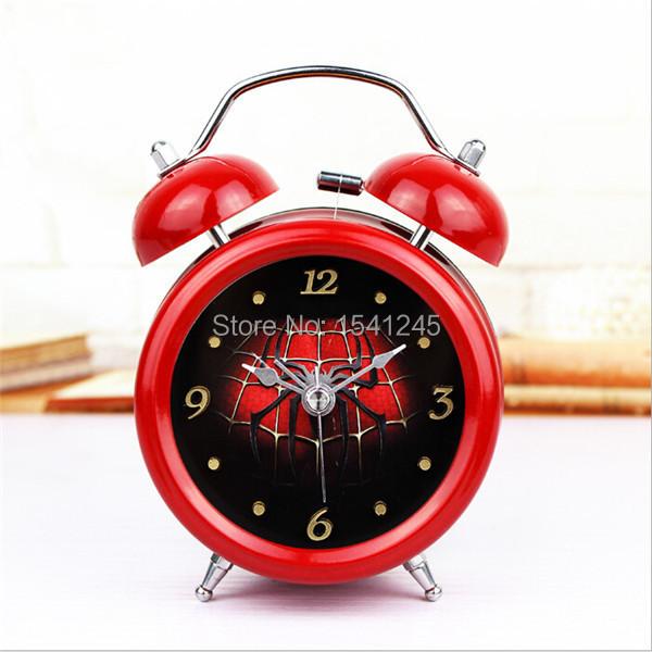 Modern Red Wake Up Night Light Mechanical Digital+Dot Metal Belling Alarm Clocks Refuse Radiation AC11(China (Mainland))