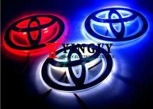 Three Colors Car Badge Light For Toyota RAV4 10*6.8 cm, Single Color Auto Logo Led Light, Auto Emblem Lamp, Rear Light(China (Mainland))