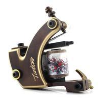 HANDMADE copper Tattoo Machine 12 coils TM-8808 beautifully carved tattoo gun
