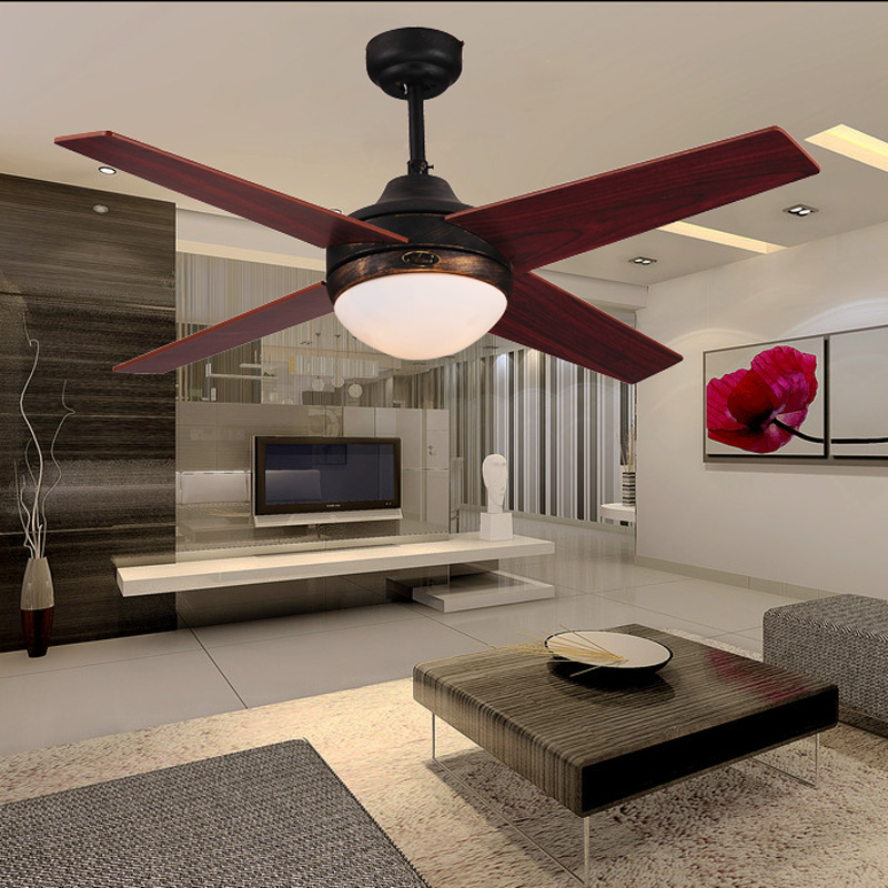 antique black ceiling fan lights 44 4 leaves single lamp chinese style vintage modern brief fan. Black Bedroom Furniture Sets. Home Design Ideas