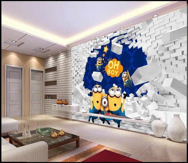 Encargo papel de parede infantil 3 d vinilo amarillo para - Papel pared salon ...