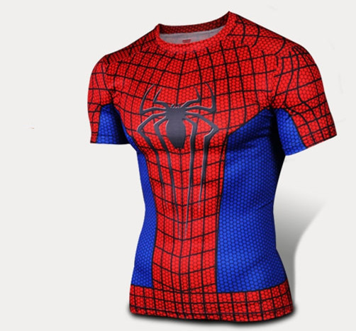 Spider-Man T-Shirt Mens Spiderman GYM Bodybuilding Tees Top Workout Fitness Crew Neck Short Sleeve - Online Store 939240 store