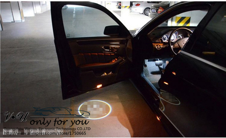 drill LED car Door Courtesy Ghost Shadow Logo Lights Mercedes Benz B E S ML C-CLASS GLA W166 W212 W246 W176 W205 GL  -  Guangzhou weiyou Electronic Co.,LTD store