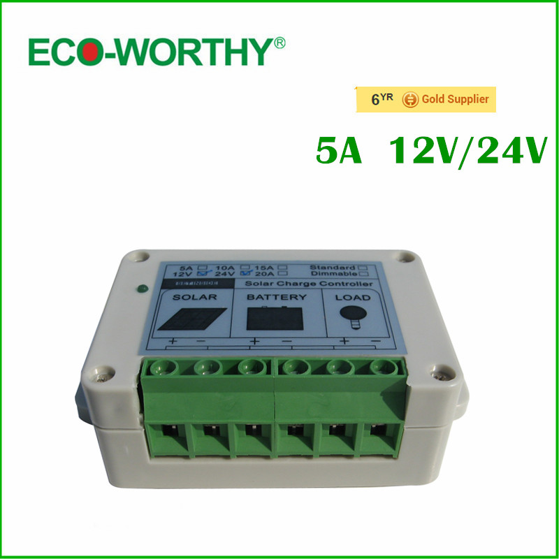 Solar Controller Regulator 5A 12V/24V Charge Battery Safe Protection CE Certify 5A solar charge controller#(China (Mainland))