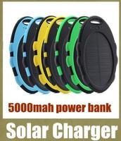 New shockproof waterproof 5000mah solar power bank universal USB solar charger portable powerbank external backup battery