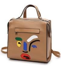 Рюкзаки для девочек-подростков; женский кожаный рюкзак; школьная сумка с изображением героев мультфильмов; Студенческая сумка цвета хаки; м...(China)