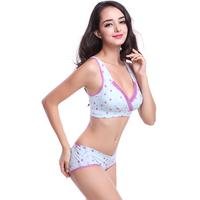 Women's Polka Dots Bra Breastfeeding Embroidery Lace Brassiere 34-40 3/4 Cup Bra Free Shipping