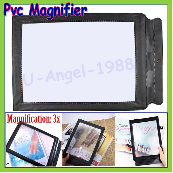 Гаджет  1pcs A4 Pocket 3X Full Page Fresnel Lens Flexible Card Reading Magnifier Magnifying Tool Gafas LupaWholesale Dropship None Инструменты