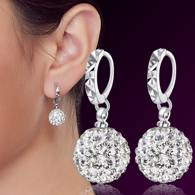 Unique  Earrings Gt Designer Luxurman Diamond Drop Swirl Earrings For Women 3