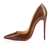 REAL PHOTO Red Bottom High Heels Sole Shoes Brown Matt Leather Pumps Pointed Toe Sexy Women Ladies 120MM Heels,K-L08