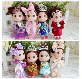 Confused doll pendant Qimonda doll plush toys wholesale phone / bag pendant Birthday Valentines Gift Scarf Baby Bear Wedding(China (Mainland))