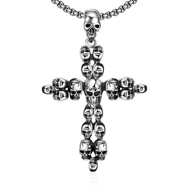 Men's Fashion 316L stainless steel cross necklace & pendant personalized cool party jewelry top quality global hot(China (Mainland))