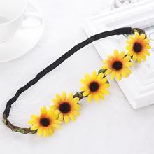 Hot sale Daisy Hairband Flower Headbands Wedding Festival Elastic Flowers Hair Accessories(China (Mainland))