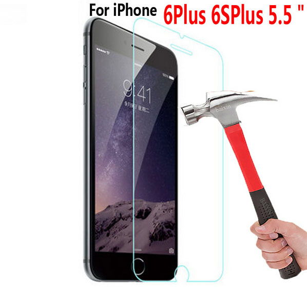 10pcs/Lot 0.3mm 2.5D HD Tempered Glass Screen Protector For Iphone 6Plus 6SPlus Case 5.5