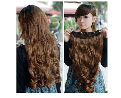 1pcs Clip On In Hair Extension Women 39 S Long Curl Curly Wavy Hair Extension Clip In Hair