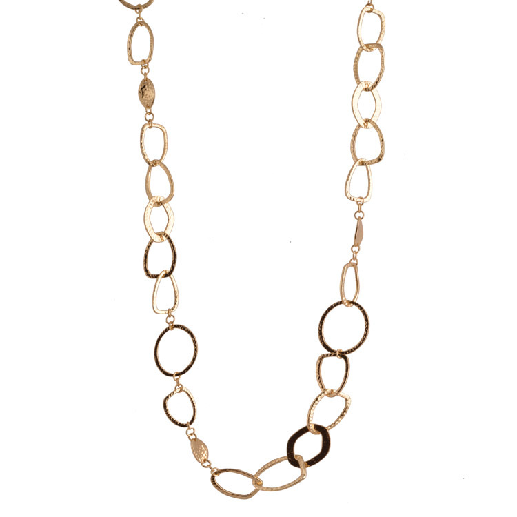 2015 New Sale Unique Jewelry Fashion Gold\silver\black Gun Plated Chunky Long Chain Popular Statement Necklace For Women Bijoux(China (Mainland))