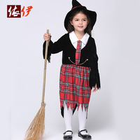 2016 Children's Day Dress Kids Halloween Cos Costume Girls Hallowmas Party Proformance Suit Children Make Up Party Dress B-3118