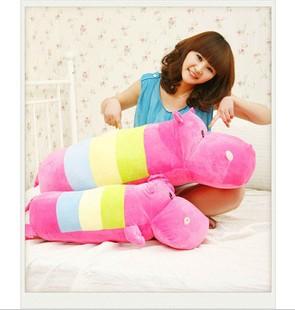 Cute lovely RAINBOW HIPPO soft stuffed plush animal doll toys cute cushion pillow 48cm piece(China (Mainland))
