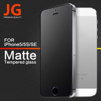 JG Matte Film for iPhone 5S Thin 0.3mm Premium Tempered Glass Screen Protector for i5 SE Toughened Protective Film Free Shipping