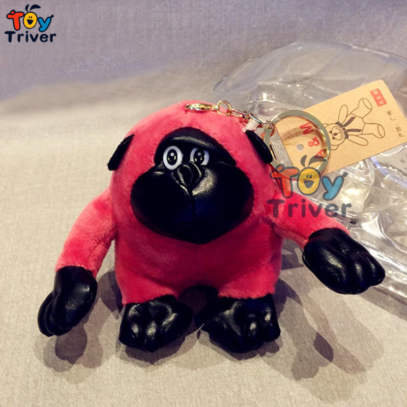 Triver Toy Quality Fragrance Gorilla monkey doll mobile phone Automobile key chain pendant plush toy free shipping(China (Mainland))