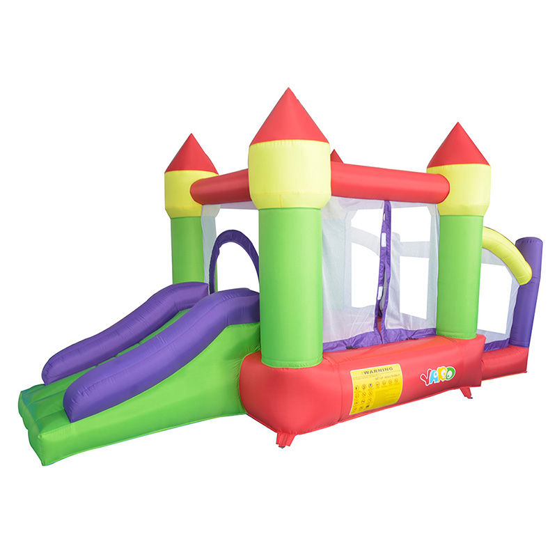 Free Shipping To Russia Bouncy Castle Inflatable Jumper Bouncer Castle Inflatable Slide And Ball Pit With Blower(China (Mainland))