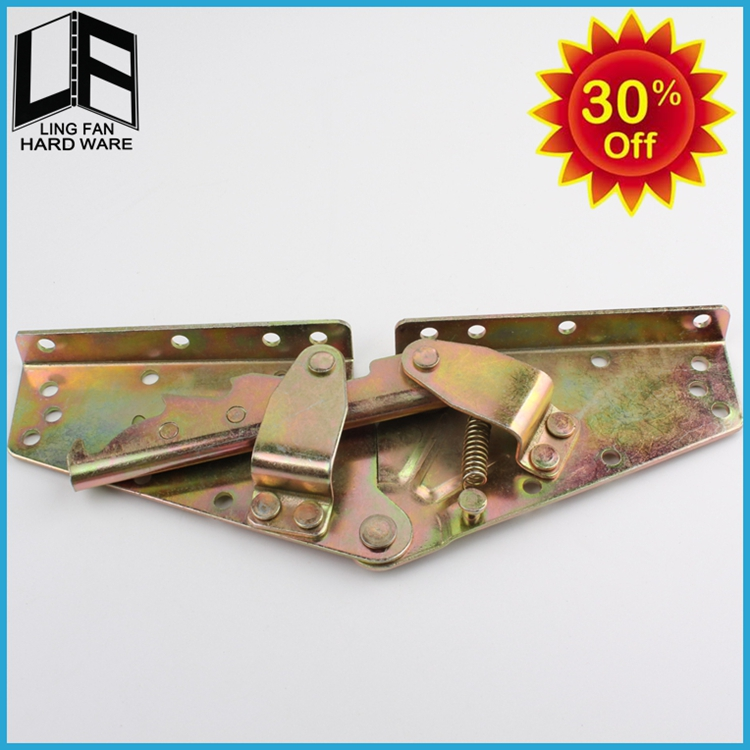 electric adjustable three fold sofa bed mechanism,metal adjustable support hinge 140 degree(China (Mainland))
