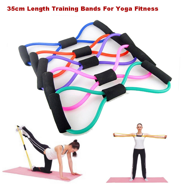Sports Trainning equipment Pull Rope 8-shaped Girls/lady Chest Expander Pilates Resistance Training Bands For Yoga Fitness #5(China (Mainland))