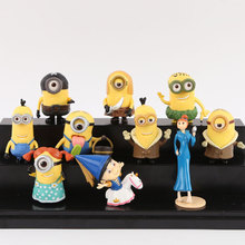 10PCS/Set Despicable Me Minion in Action Figures Minions Toys Doll decoration hand-done Brinquedos for kids Christmas Gift