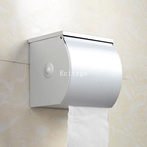 New Toilet Batchroom Paper Tissue Roll Wall Mounted Aluminium Holder Cover Case Container length 12*12*12 cm(China (Mainland))