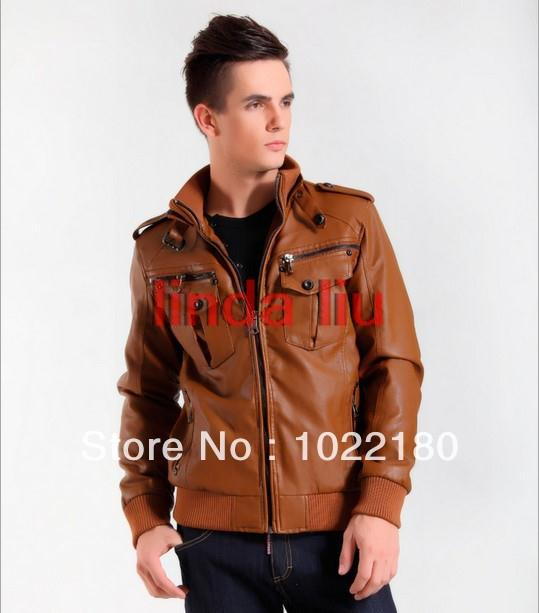 2013 Men s leather coat Men military style waterproof leather Suede blazer outdoor winter couro jackets