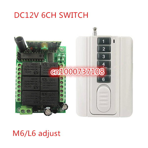 DC12V 6 channel rf wireless remote control switch 315mhz/433mhz digital remote control switch Made in AK company<br><br>Aliexpress