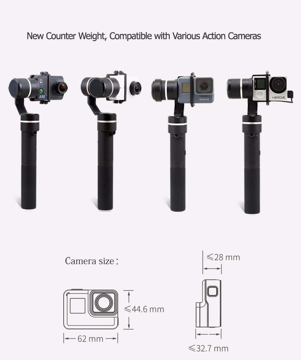 FeiyuTech fy G5 Splashproof 3-axis Handheld Gimbal For GoPro HERO 6 5 4 3 3+ Xiaomi yi 4k SJ AEE Action Cameras Bluetooth APP