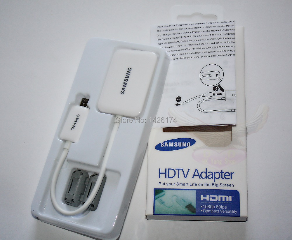 computer components Free Shipping MHL 2.0 Micro USB 11pin to HDMI Cable Adapter for Samsung Galaxy S4 i9500 Note 2 N5100 Note 3(China (Mainland))